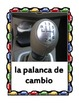 Car parts in Spanish Posters