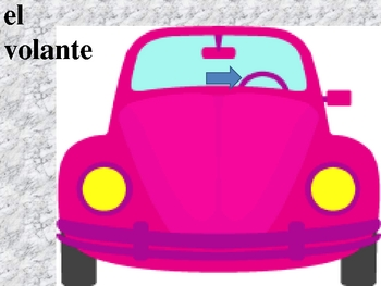 Car parts in Spanish power point