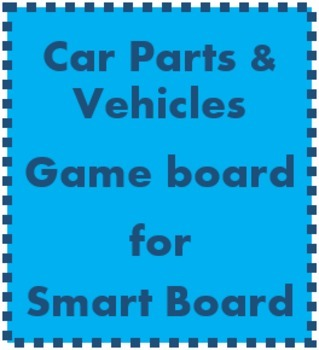 Car parts & vehicles Game board for Smartboard