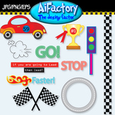 Transportation Cars Racing Clipart