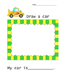 Car worksheet for Kindergarten/First grade