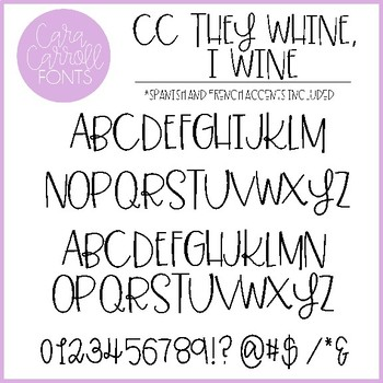 Cara Carroll Fonts: Adult-ish Collection