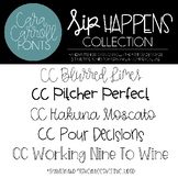 Cara Carroll Fonts: Sip Happens Collection