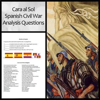 Cara al Sol: Lyrics, Translation, and Group Analysis Questions