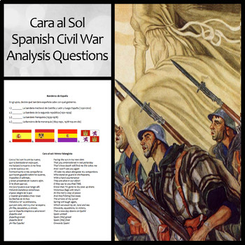 Cara al Sol: Lyrics, Translation, and Group Analysis Questions