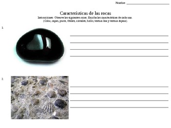 Caracteristicas de las rocas