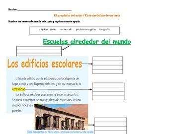 Caracteristicas de texto / proposito del autor no ficcion Nonfic text features