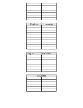 Características del Personaje