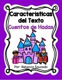 Características del Texto: Cuentos de Hada (Fairy Tales Text Features Spanish)