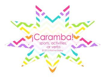 ¡Caramba! vocab game for Spanish 1 - Sports, Activities, -ar verbs