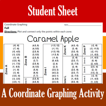 Caramel Apple - A Fall Coordinate Graphing Activity