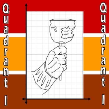 Caramel Apple - A Quadrant I Coordinate Graphing Activity