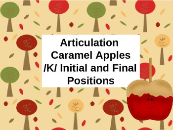 Caramel Apple Articulation Activity