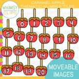 Caramel Apple Number Tiles Clip Art {MOVEABLE IMAGES}