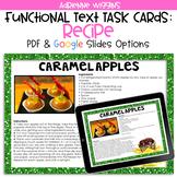 Caramel Apple Recipe Functional Text Task Cards