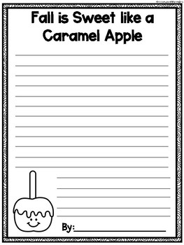 Caramel Apple Writing and Graphing Craftivity