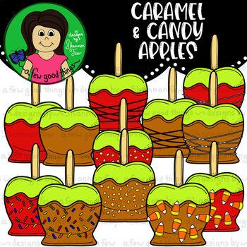 Caramel & Candy Apple Clip Art