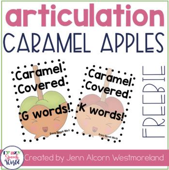 Caramel Covered K & G Words