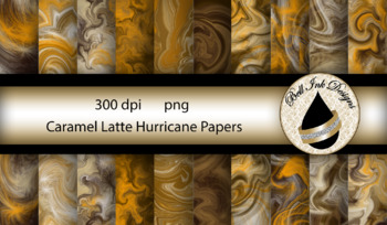 Caramel Latte Hurricane Papers Clipart