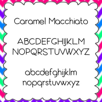 Caramel Macchiato Font {personal and commercial use; no license needed}
