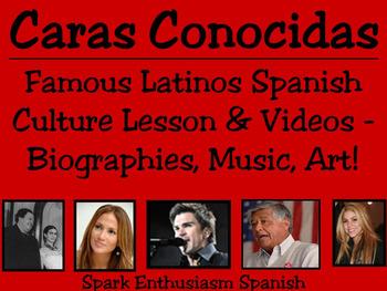 Caras Conocidas - Notable Hispanics Intermediate-Advanced Culture Lesson
