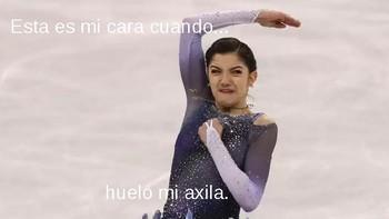 Caras chistosas de patinadores artísticos