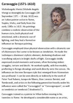 Caravaggio Handout