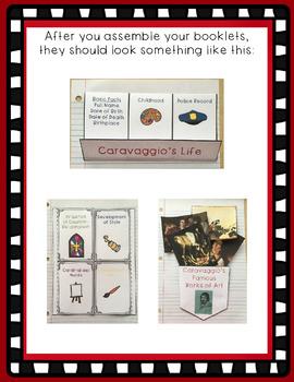 Caravaggio Interactive Foldable Booklets