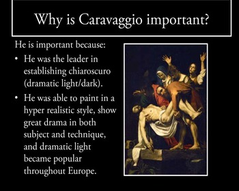 Baroque Art- Caravaggio