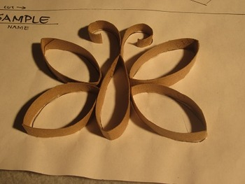 Carboard Tube Butterfly Porject. Fun Craft Art