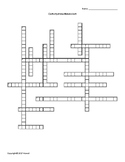 Carbohydrate Metabolism Vocabulary Crossword for Biological Chemistry