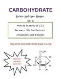 Carbohydrates Handout/Notes
