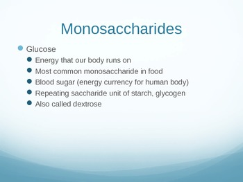 Carbohydrates PPT (Foods and Wellness)