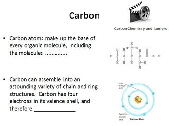 Carbon Chemistry - Senior Biology PowerPoint Lesson and Notes