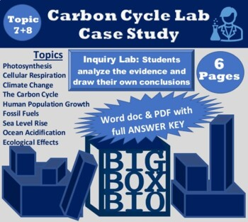 Carbon Cycle Case Study: Interactions of Photosynthesis and Cellular Respiration