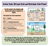 Carbon Cycle, Nitrogen Cycle and Hydrologic Cycle Project