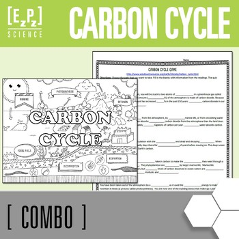 Carbon Cycle Online Tutorial & Carbon Cycle Seek & Find Doodle Page Combo