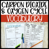 Carbon Dioxide & Oxygen Cycle Fun Interactive Vocabulary Dice Activity EDITABLE