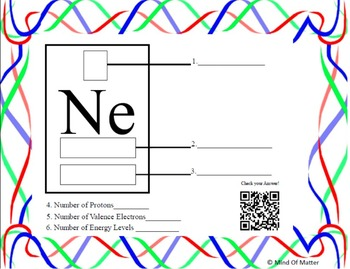 Periodic Table of Elements Task Cards with QR Codes