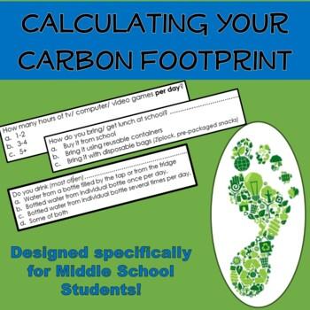 Carbon Footprint Calculator Designed For Middle School Students Water footprint calculator worksheet