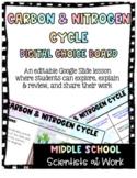 Carbon & Nitrogen Cycle Digital Choice Board Distance Lear