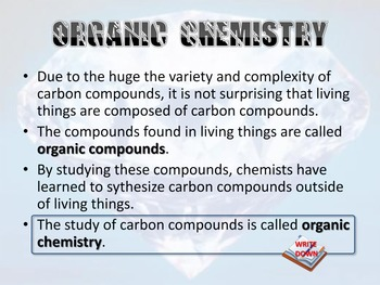 Carbon and Organic Chemistry