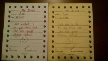 Carbonless Teacher Notes Home (25 pack)
