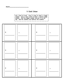 Card Addition and Subtraction
