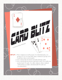 Card Blitz -  Review Game (Easily adaptable to any subject!)