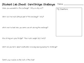 Card Bridges: Engineering Challenge Project ~ Great STEM Activity!