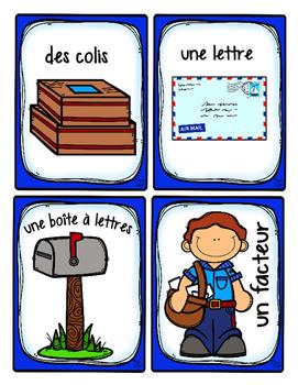 French Word Wall • Post Office • LE BUREAU DE POSTE