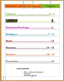 Card File Freebie:  A Compilation of Children's Literature