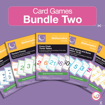 Factors, Bonds, Times Tables and Arithmetics - 5 Card Games Bundle 2