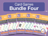 Algebra,  Probability, Quadrilaterals - Card Game Bundle 4